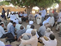 Community talk in Sudan