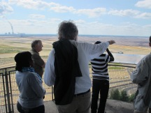 At the watch tower of the open cast mining in Nochten