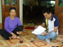 Interview bamboo handicraft produce