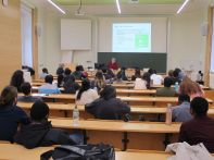Prof. Löhr giving the lecture at IHI Zittau.