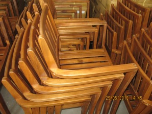 Chair made of Acacia hybrid timber in furniture company, Thua Thien Hue Province (©Tham)